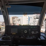 At the cab of Naha's monorail