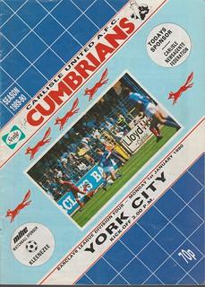 Carlisle United V York City 1-1-90 | by cumbriangroundhopper