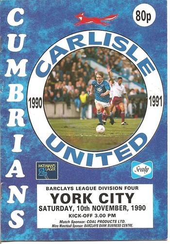 Carlisle United V York City 10-11-90 | by cumbriangroundhopper