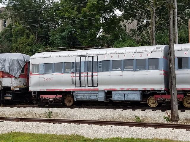 CTA #5001 at Fox River Trolley Museum