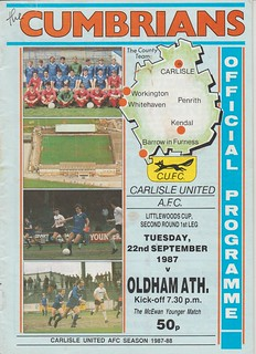 Carlisle United V Oldham 22-9-87 | by cumbriangroundhopper