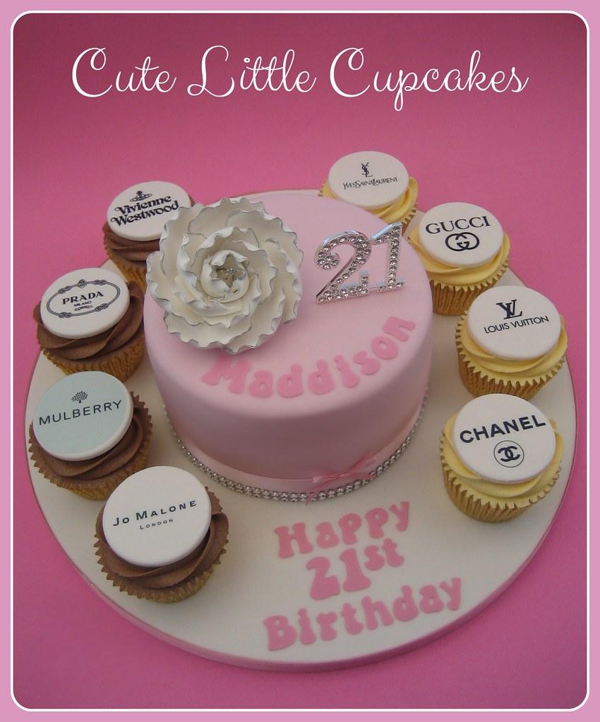 Pleasant 21St Birthday Cake Cupcakes Heidi Stone Flickr Funny Birthday Cards Online Benoljebrpdamsfinfo