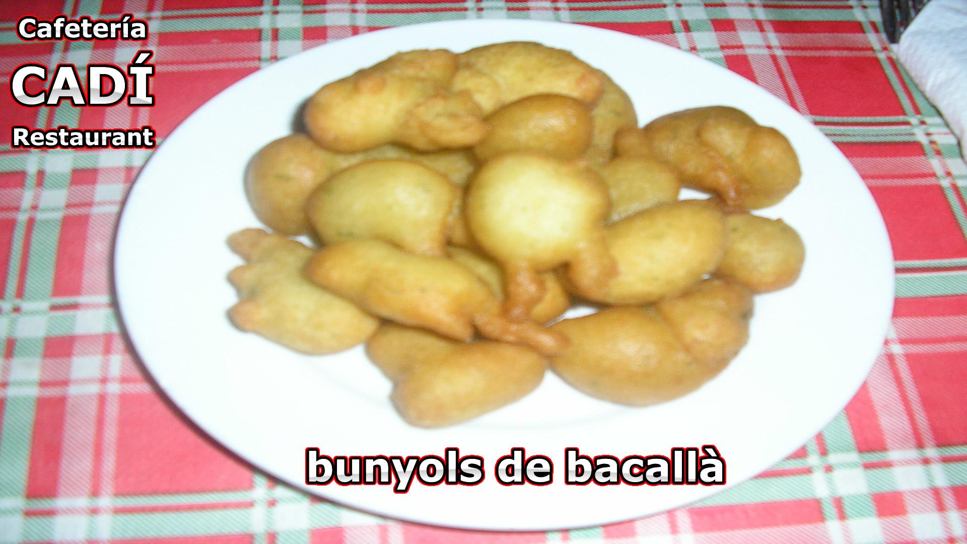 Buñuelos de Bacalao