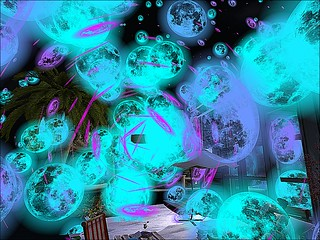 Home, Sweet, Home2 - Tiggy Experiments With  Particles In Blue and Purple   by mromani50