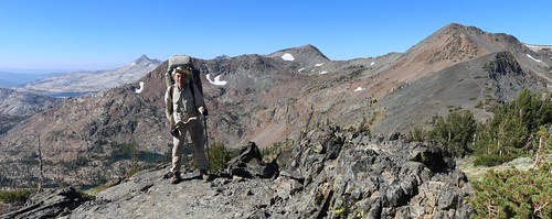2361 Posed shot of me at Dicks Pass with Jacks Peak, center, and Dicks Peak on the right | by _JFR_