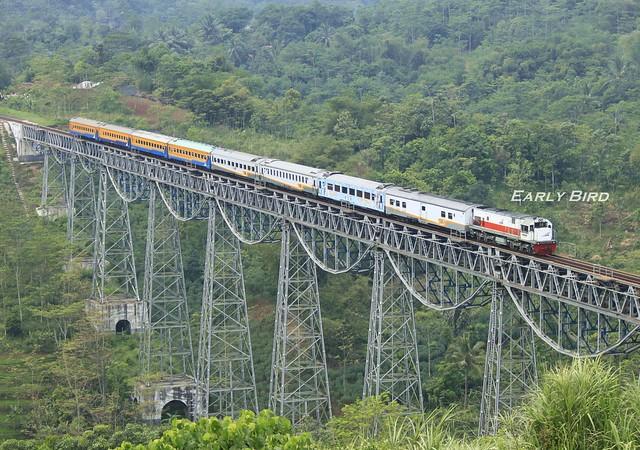 Ciremai Train : KA Ciremai yang Melintasi Jembatan Cikubang