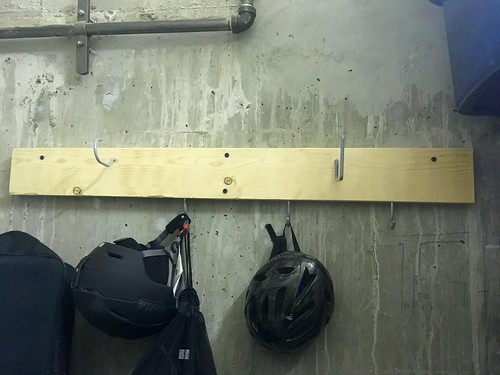 Hooks in the storage closet | by Beth77