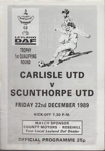Carlisle United V Scunthorpe 22-12-89 | by cumbriangroundhopper