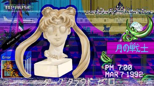 Sailor Moon Vaporwave POSTER V2 resize