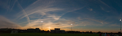 sunset milton wisconsin canon 5d clouds soccer sports highschool panorama