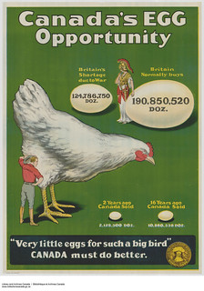 Canada's Egg Opportunity: Canada Food Board poster, Ottawa, Ontario / « Canada's Egg Opportunity », affiche promotionnelle de la Commission canadienne du ravitaillement, Ottawa (Ontario)