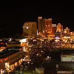 American Village at night.