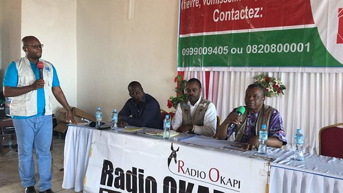 Beni, North-Kivu, DR Congo – The UN-owned Radio in the DRC, Radio Okapi, organized on September 6th, 2018 a live broadcast from Beni, where an epidemic of Ebola has been raging for more than a month. | by MONUSCO