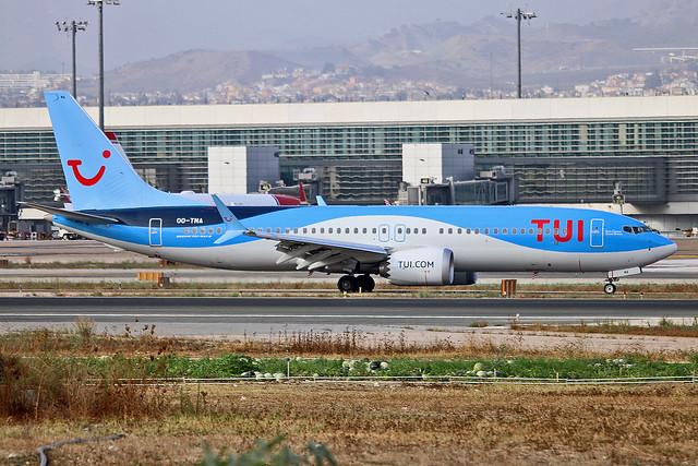 OO-TMA Boeing 737-8 MAX TUI Airlines Belgium AGP 17-06-18