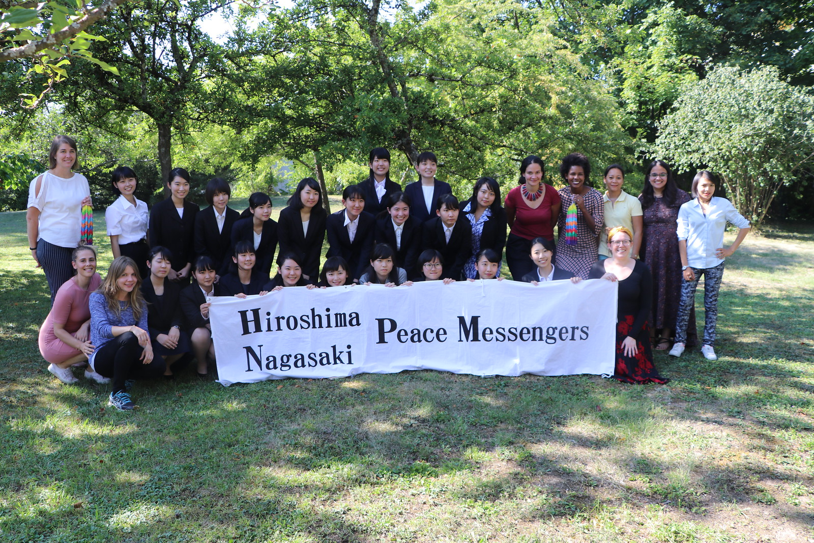 Young women deliver their Peace Messag