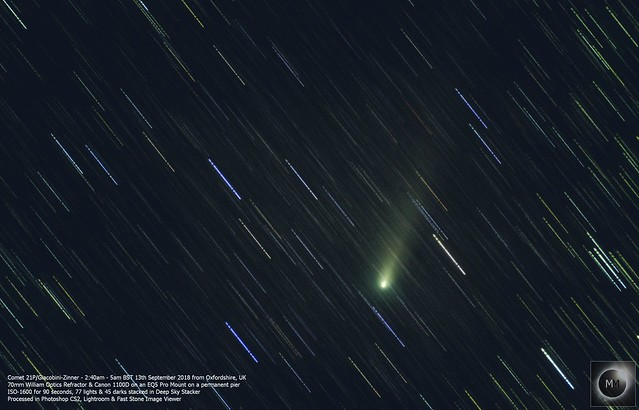 Comet 21P/Giacobini-Zinner from Oxfordshire 13/09/18