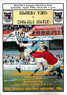 Grimsby Town V Carlisle United 29-4-89 | by cumbriangroundhopper
