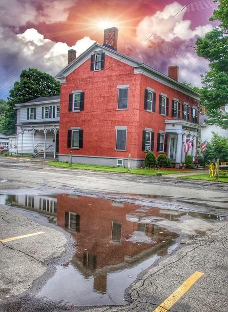 Homer New York -  Briggs-Hall Memorial Home - Reflection