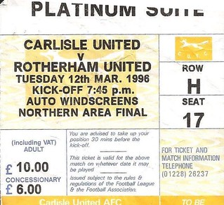 Carlisle United V Rotherham 12-3-96 | by cumbriangroundhopper