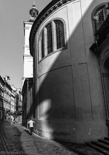 Giant Ghost shadow kisses solitary man- Prague 74.jpg | by Mookalafalas