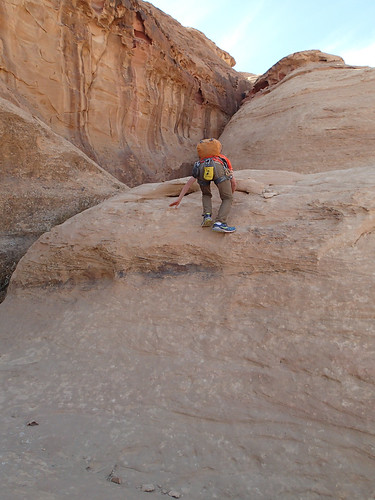 Typical scrambling section in Wadi Rum | by Masa Sakano