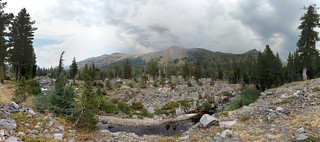 0587 Panorama of storm clouds over Dicks and Jacks Peaks from the Rubicon Trail   by _JFR_