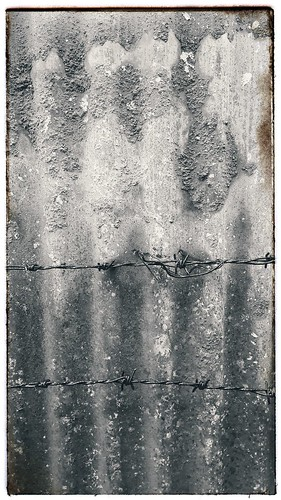 barbed wire sheet corrugated grunge asbestos contrast opaque