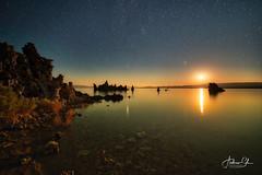 Moonrise over Mono Lake