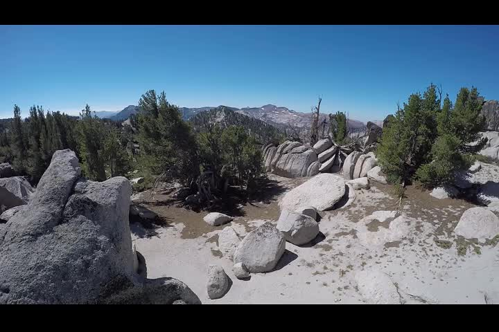 1531 GoPro 360 degree panorama video from the summit of Jakes Peak