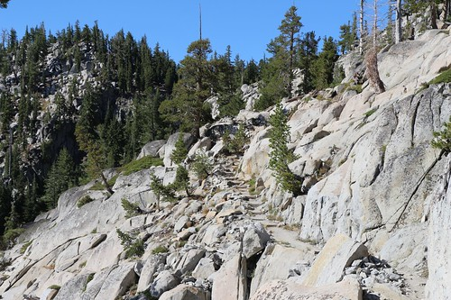 1714 Lots of steps in solid granite were created when they built the Tahoe-Yosemite Trail back in 1916 | by _JFR_