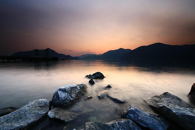 Porteau Cove sunset, West Vancouver, Canada