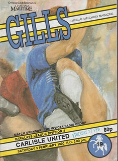 Gillingham V Carlisle United 3-2-90 | by cumbriangroundhopper