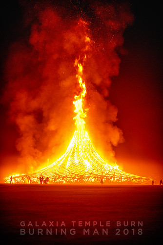 Galaxia temple Burn 2018