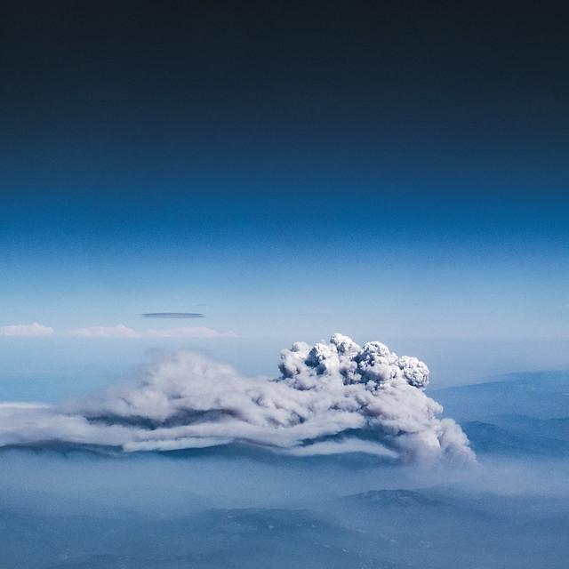 Mendocino Complex Fire Pyrocumulus cloud facing East