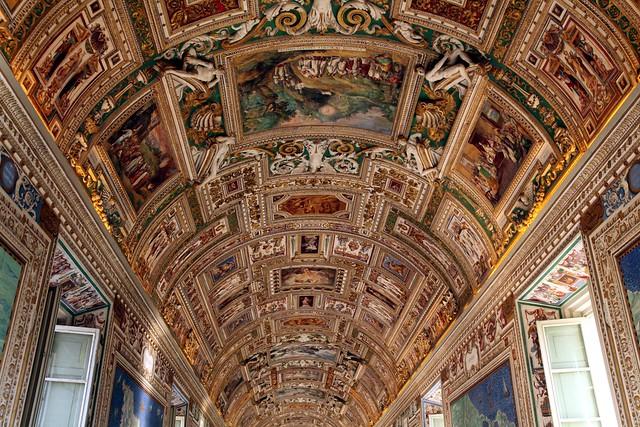 Ceiling frescos. Vatican City.