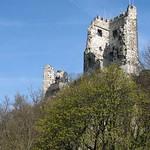 Ruine der Burg auf dem Drachenfels von Süden aus betrachtet