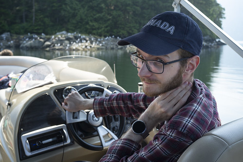 Garret drives tha boat | by northways