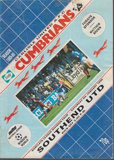Carlisle United V Southend 6-1-90   by cumbriangroundhopper