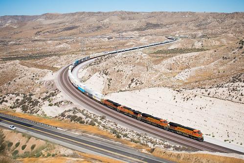cajon summit california unitedstates bnsf gevo ge intermodal pass