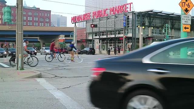 Video: Evening Bike Ride past the Milwaukee Public Market
