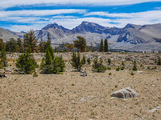 Whitney from the JMT on Bighorn Plateau   by snackronym