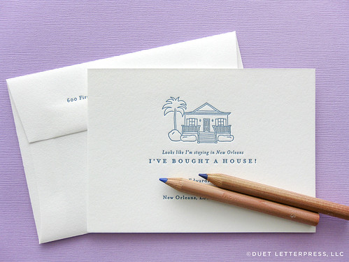 house no.71 / moving announcement | by duetletterpress