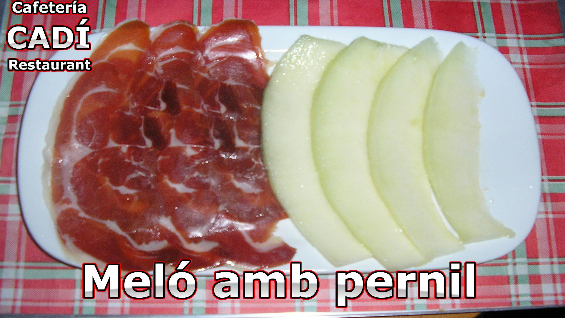 Meló amb pernil