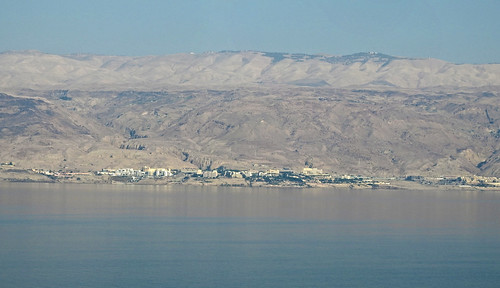deadsea jericho palestine sunset haze brouillard blue water