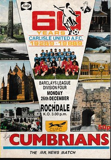 Carlisle United V Rochale 26-12-88 | by cumbriangroundhopper