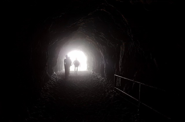 in a tunnel