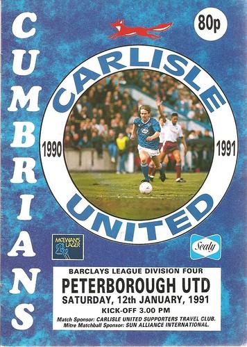 Carlisle United V Peterborough United 12-1-91 | by cumbriangroundhopper