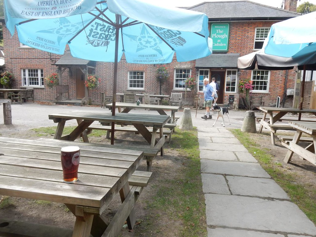 The Plough Hard to find a seat with all the tourists but I just managed to squeeze in. Princes Risborough to Wendover