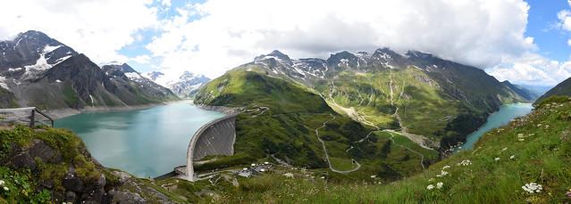 Panorama Höhenburg 2108 m, uitzicht (Fisheye versie).