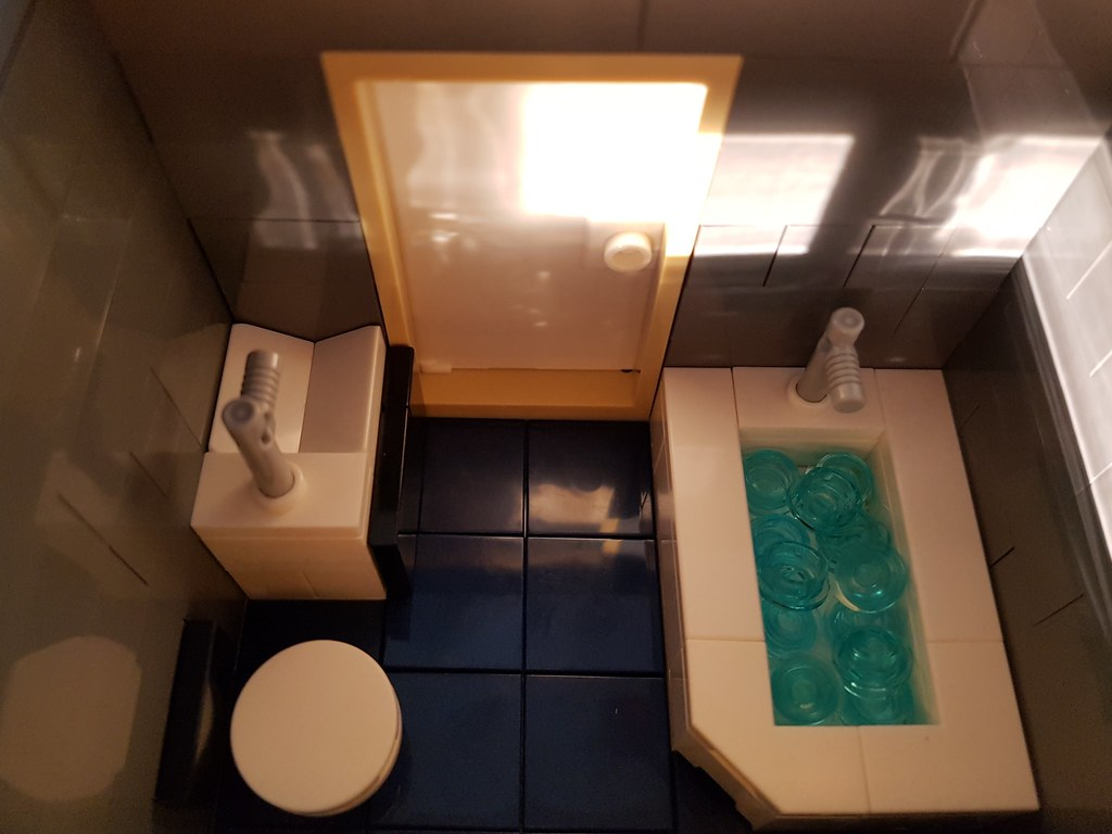 Awesome Blue Striped House Moc Bathroom Blue Striped House Is A U Gamerscity Chair Design For Home Gamerscityorg